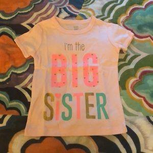 Carters Big Sister t-shirt